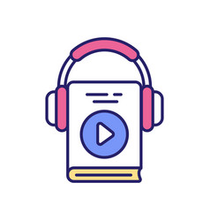Listening to motivation audiobooks and podcasts vector