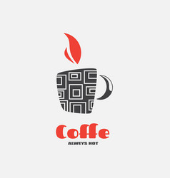 logo mug for menus and labels vector image