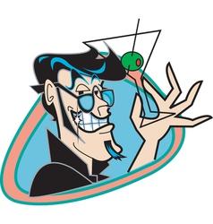 Martini man vector image