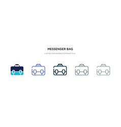 messenger bag icon in different style two vector image