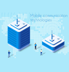 mobile communication technology vector image