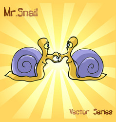 mr snail with handshake vector image