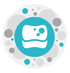 of cleaning symbol on sponge vector image