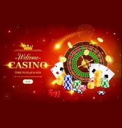 online casino wheel fortune roulette vector image