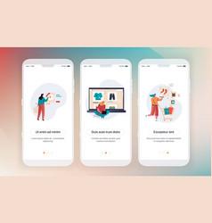 online shopping design mobile application vector image