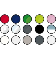 paint tin icons vector image
