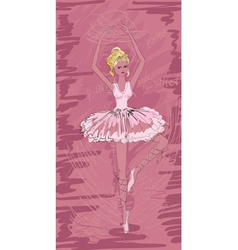 painted ballerina vector image