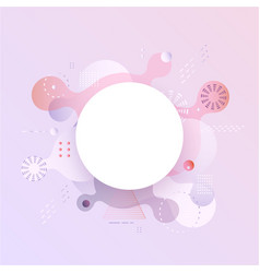 pastel gradient banner with fluid color abstract vector image