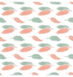 Pink and blue feather seamless pattern vector image