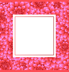 pink dahlia banner card style 2 vector image