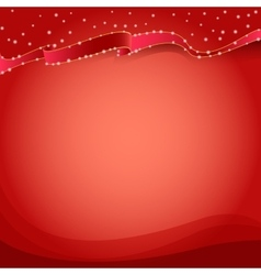 Red background with sparkles vector image