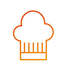 restaurant hat of chef service symbol vector image