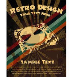 retro grunge concert poster vector image