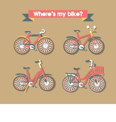 Set Bicycle vector image