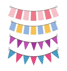 set of color buntings vector image