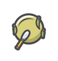Shaman ethnic tambourine icon cartoon vector