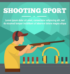 Shooting sport concept banner flat style vector