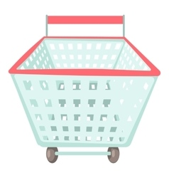 Shopping cart icon cartoon style vector