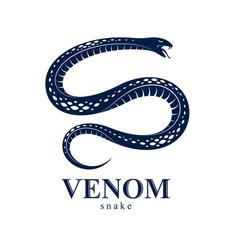 Snake logo emblem or tattoo deadly poison vector