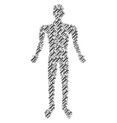 spanner man figure vector image