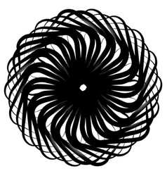 Spirograph pattern like rotating spiral vortex vector