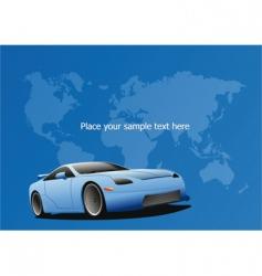 Sportscar poster vector