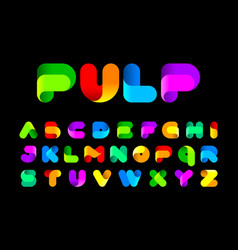 stylised twisted colorful pulp font vector image