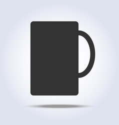 stylized cup icon gray colors vector image