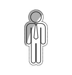 successful businessman pictogram vector image