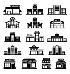 supermarket facade retail shop exterior vector image