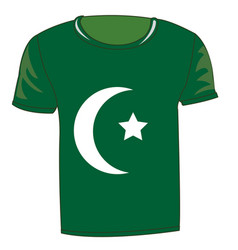 T-shirt with flag of the pakistan vector