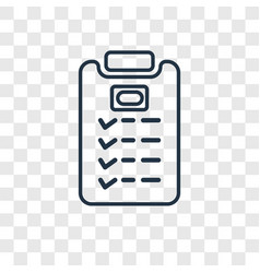 task concept linear icon isolated on transparent vector image