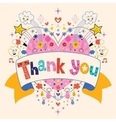 Thank you card 2 vector image
