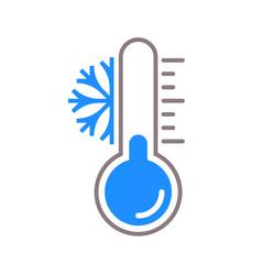 Thermometer snow cold temperature icon vector