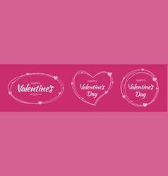 valentines day card set valentine frames vector image
