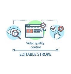 Video quality control concept icon vector