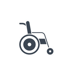 wheelchair related glyph icon vector image