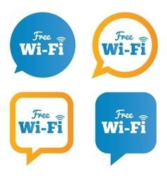 Wifi speech bubbles Free wifi symbols Wireless vector