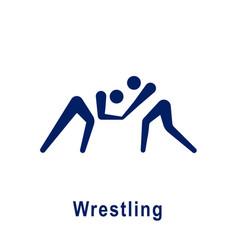 Wrestling pictogram new sport icon vector
