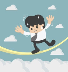 Concept of a business danger vector image