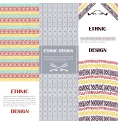 Ethnic design banners set vector image vector image