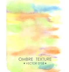 Ombre watercolor yellow Hand drawn ombre texture vector image vector image
