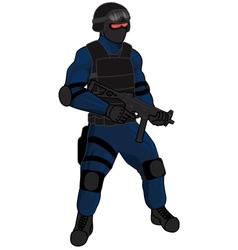 swat team member preview ump blue vector image