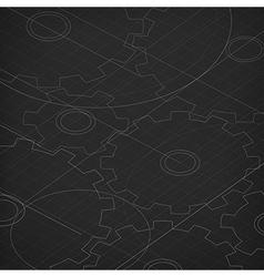 Blueprint of cogwheels Technology abstract vector image vector image