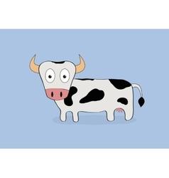 Cartoon cow isolated vector