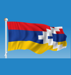 Flag of nagorno-karabakh republic vector