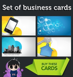 modern business cards vector image vector image