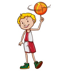 A male basketball player vector image