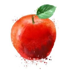 Apple logo design template fruit or food vector image