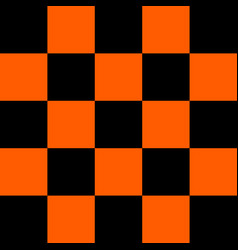 black and orange checkered background vector image